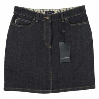 Burberry Navy Denim - Jeans Skirt for Women