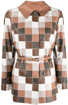 Desa 1972 Patchwork Leather Coat