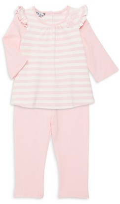 Pippa & Julie Baby Girl's 2-Piece Waffle Stripe Two-Fer Tunic Legging Set