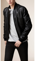 Burberry Nappa Leather Bomber Jacket