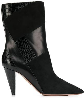 Aquazzura Calder cone-heel ankle booties