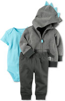 Carter's 3-Pc. Cotton Dinosaur Hoodie, Bodysuit and Pants Set, Baby Boys (0-24 months)