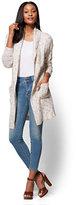 New York & Co. Shawl-Collar Duster Cardigan - Marled Knit