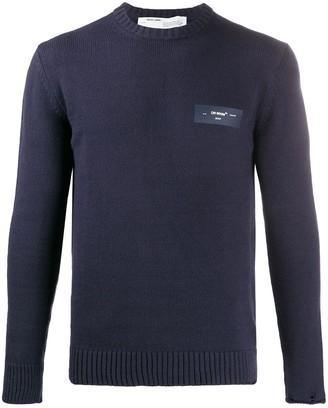 Off-White Logo Print Knitted Jumper