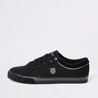 River Island K-Swiss black canvas lace-up trainers