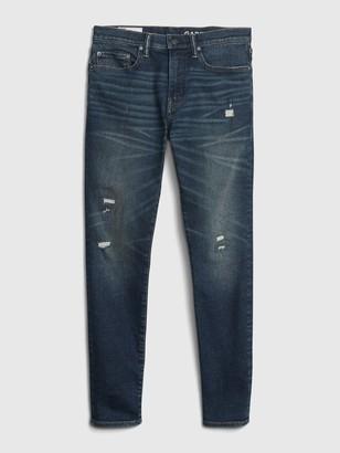 Gap Distressed Skinny Taper High Stretch Jeans with GapFlex