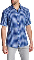 Zachary Prell Haruta Short Sleeve Plaid Linen Shirt