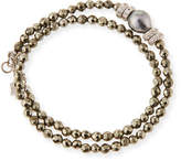 Armenta New World Tahitian Pearl & Diamond Wrap Bracelet