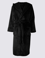 M&S Collection Hooded Fleece Dressing Gown