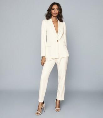 Reiss Edie - Tailored Slim-leg Trousers in Ivory