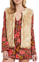 GB Two-Tone Faux-Fur Vest