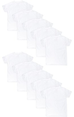 Hanes Boys Eco White Crew Undershirts, 10-Pack, Sizes S - XL