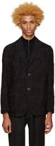 Issey Miyake Black Fil Coupé Blazer