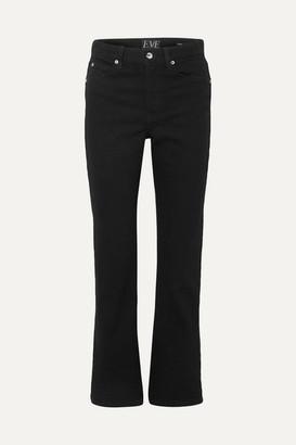 Eve Denim Jane High-rise Flared Jeans - Black