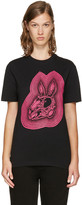 McQ by Alexander McQueen Black 'Bunny Be Here Now' T-Shirt