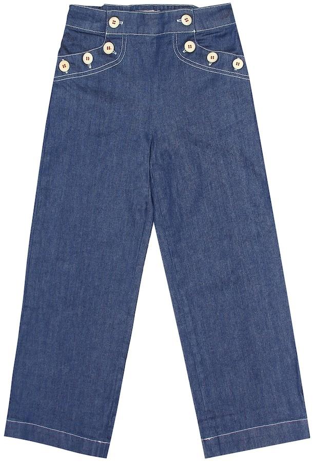 Bonpoint Leanne stretch-cotton jeans