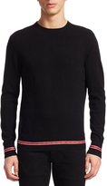 Givenchy Men's Contrast Trim Sweater