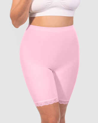 B Free Intimate Apparel - Women's Pink Sleepwear & Loungewear - Curvy Anti-Chafing Cotton Shorts - Size One Size, M at The Iconic
