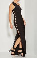 Herve Leger Catarina Overlay Zigzag Dress