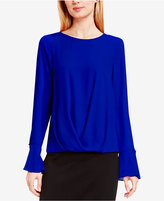 Vince Camuto High-Low Flutter-Cuff Top
