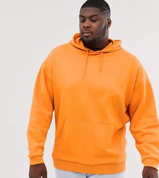 Asos Design DESIGN Plus oversized hoodie in orange