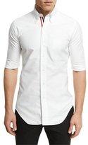Thom Browne Half-Sleeve Cotton Oxford Shirt