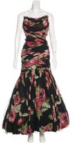 Dolce & Gabbana Silk Rose Print Gown