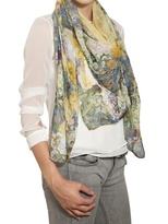 Erdem - Printed Woven Cashmere Modal Scarf