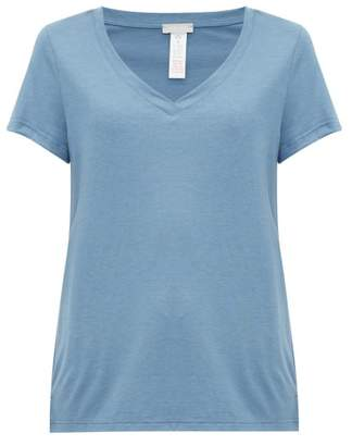 Hanro Cotton And Modal-blend Jersey Pyjama Top - Womens - Indigo