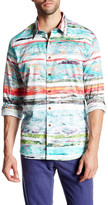 Robert Graham Collared Long Sleeve Classic Fit Multicolor Woven Shirt