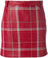 Magda Butrym - New Castle mini skirt - women - Calf Leather/Spandex/Elastane - 36