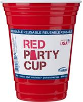 Trudeau 16 oz. Reusable, Double Wall Insulated Party Cup in Red