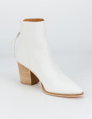 BEAST FASHION Back Zip Womens Ankle Booties