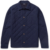 A.P.C. Cole Quilted Denim Overshirt