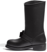 RED Valentino Bow Trim Waterproof Rain Boot (Women)