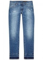 Dolce & Gabbana 16 Blue Distressed Skinny Jeans
