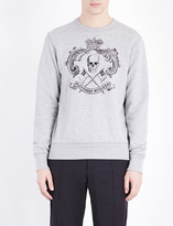 Alexander McQueen Crewneck skull-print cotton-jersey sweatshirt