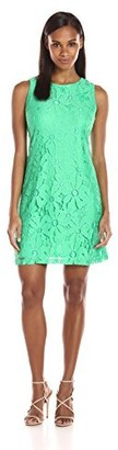 Ronni Nicole Women's Sleeveless Daisy Lace Shift Exposed Zipper