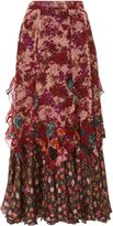 Anna Sui Painted Posey Border Skirt