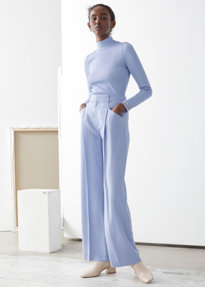 And other stories High Waisted Pleated Twill Trousers