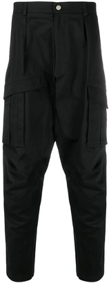 Les Hommes High Waisted Tapered Trousers