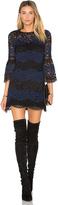 Cynthia Rowley Striped Lace Mini Dress