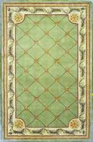 KAS Rugs JEW031386X116 Jewel Collection Fleur-De-Lis Area Rug