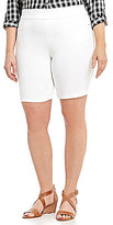 Intro Plus Sheri Pintuck Pull-On Solid Bermuda Shorts