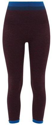 LNDR Lunar Contrast-stripe Leggings - Womens - Purple