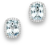 Bloomingdale's Aquamarine and Diamond Stud Earrings in 14K White Gold - 100% Exclusive