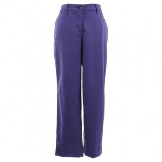 Miu Miu Purple Wool Trousers