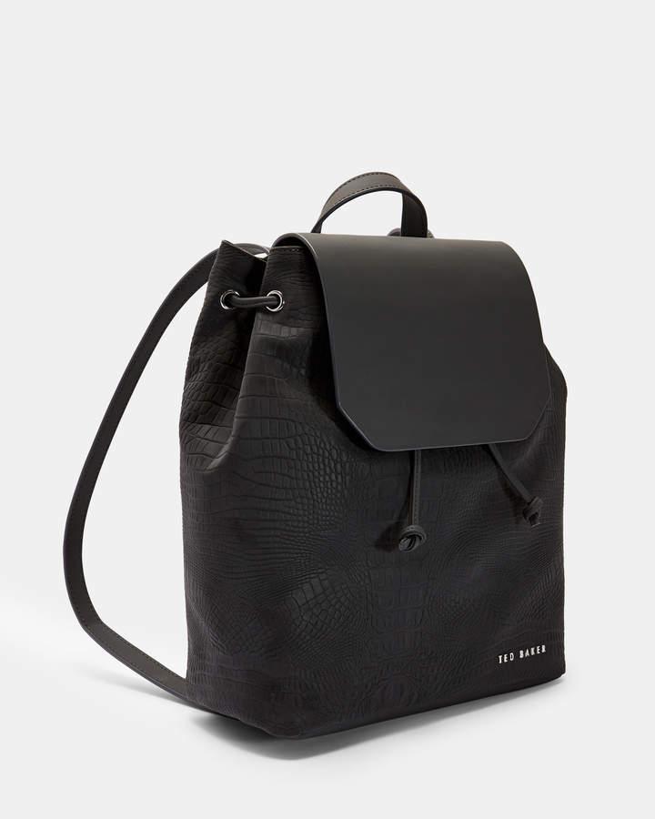 Ted Baker DEENISE Croc embossed backpack
