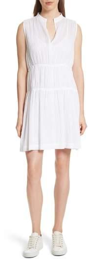 Derek Lam 10 Crosby Split Neck Cotton Gauze Dress