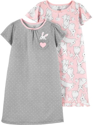 Carter's Girls 4-14 2-Piece Pattern Nightgowns Set